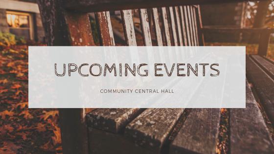 Upcoming Events November 2018