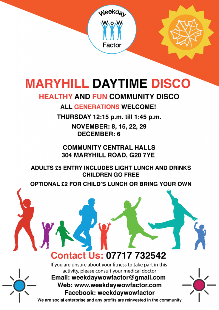Weekday Wow Factor: Maryhill Daytime Disco